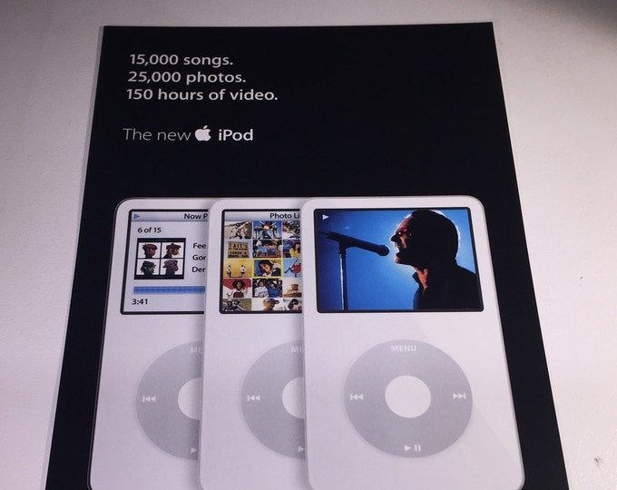 Apple iPod 5G / Video Promo Postcards from 2005 - Collectible