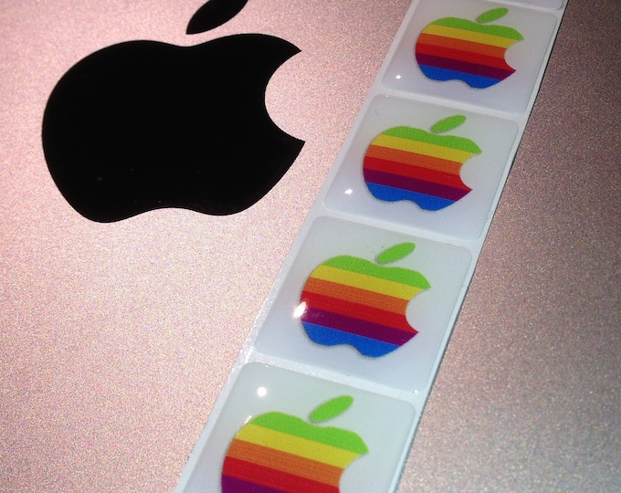 Apple adhesive 'Domed' case badge, Multicolour logo 25x25mm