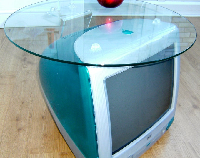 An ORIGINAL Apple iMac G3 Bondi Blue Table