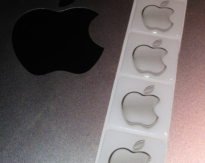 Apple adhesive 'Domed' case badge in GREY, 25x25mm