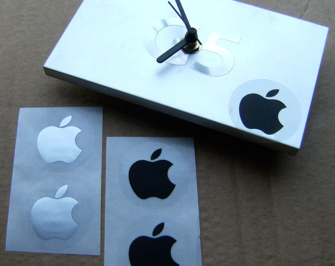 Apple G5 Processor Plate Clock, with stand & stickers
