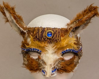 Feathered Horse Mask for Fancy Dress/Theater