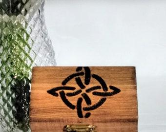 "Celtic ""Luck"" Knot Keepsake Box"