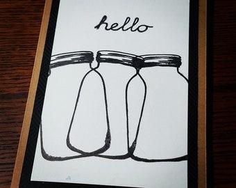 Mason Jars Hello Card