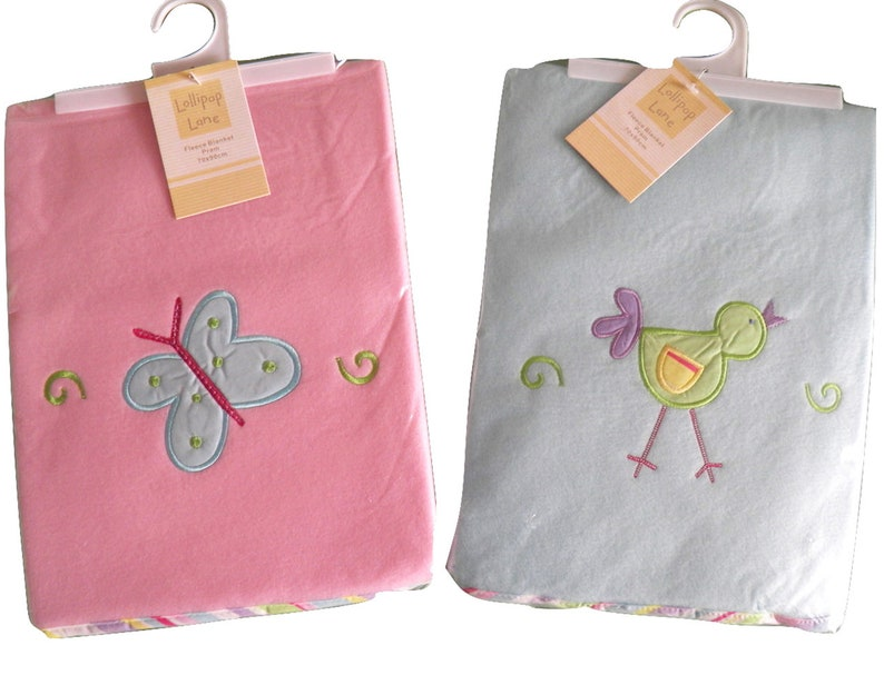 Personalised Comforter with matching Baby Blanket Blue//Pink//Green Fab Gift
