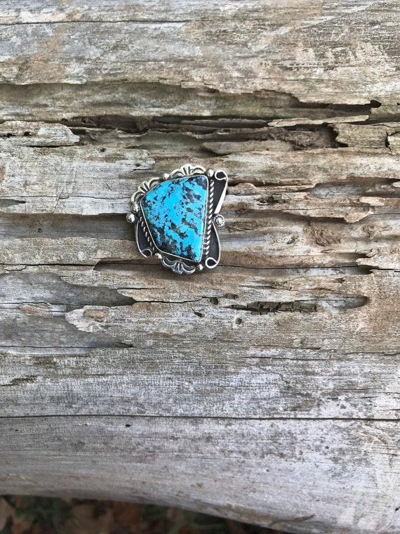 Turquoise Pin// Turquoise Hat Pin - image 1