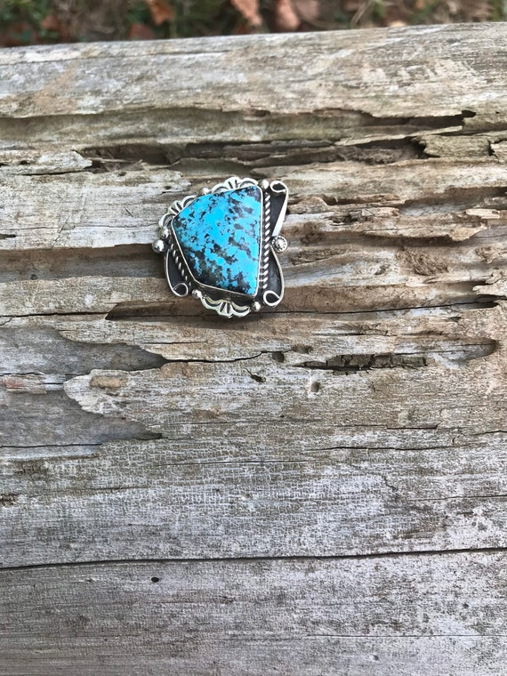 Turquoise Pin// Turquoise Hat Pin - image 2