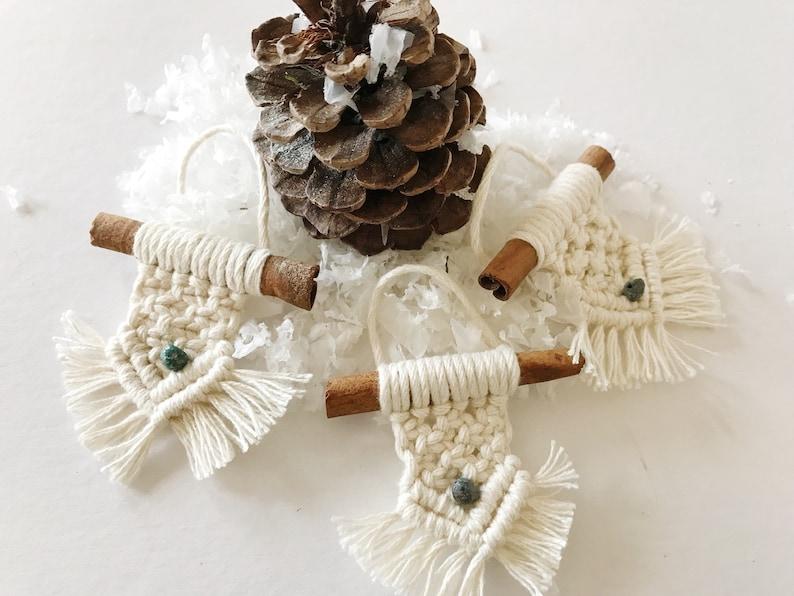 Macrame Christmas Ornament Holiday Ornaments Macrame Ornament Sets
