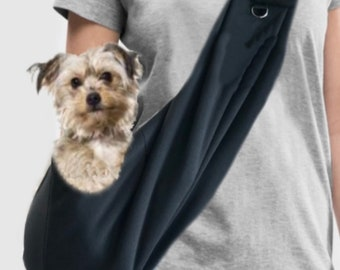 Image of: Pounds Ezsling Small Dog Sling Carrier Animal Rescue Konsortium Ezsling Small Emotional Support Dog Sling Carrier Etsy
