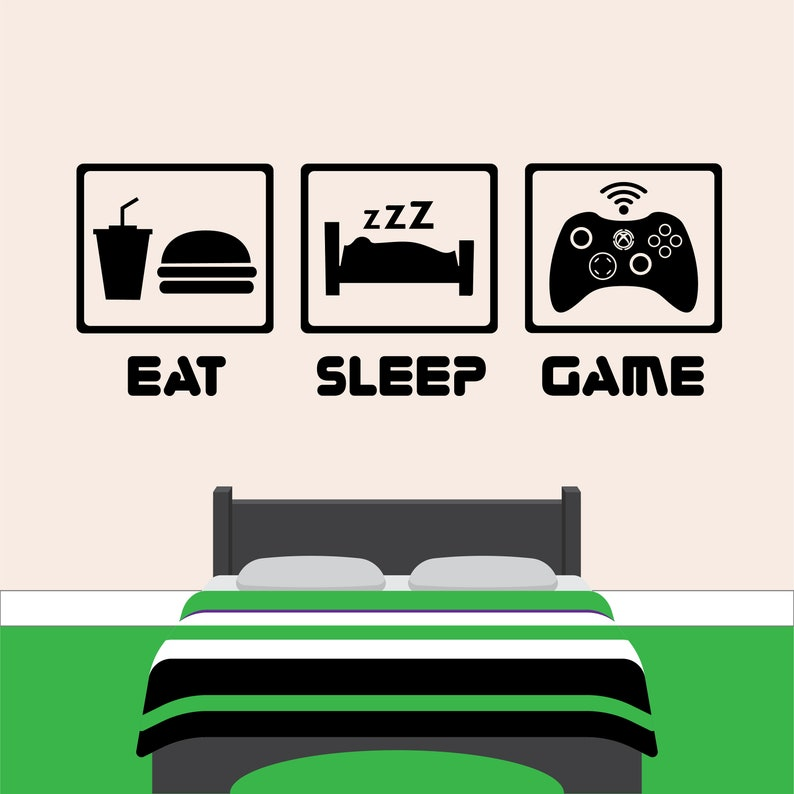 Not Now I/'m  Busy Gamer Games Xbox PS Console Bedroom Decal Wall Sticker Picture