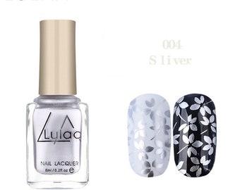 LULAA 6ml Stamping Nail Polish 12 Colors Stamp Nail DIY Stamping Nail Lacquer for Christmas Nail Art Painting Printing Varnish(004)