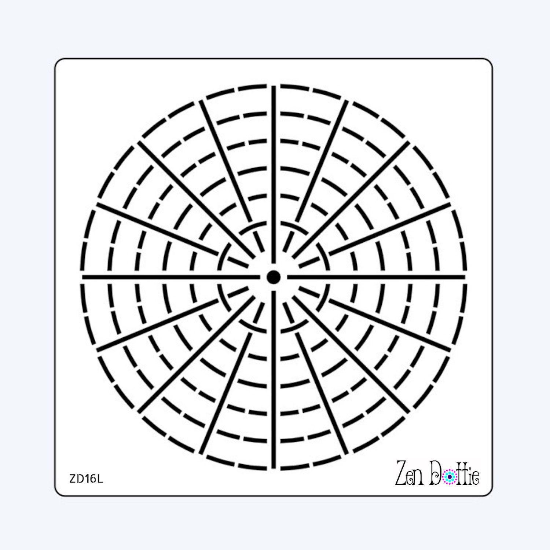 Pochoir de grand mandala 16 32 segments pochoir points etsy - Grand mandala ...