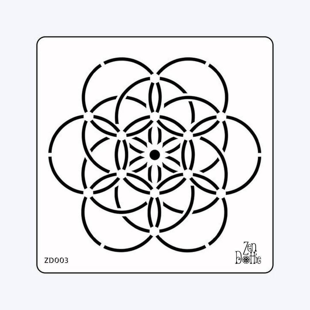 Kreis des Lebens-Schablone Kreis des Lebens Mandalas Dotting | Etsy