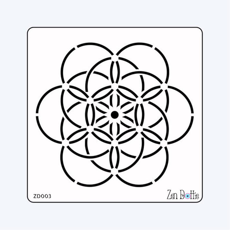 Seed of life stencil, Circle of life mandala, Dotting stencil, Mandala,  Sacred geometry, Stencil, Dotting template