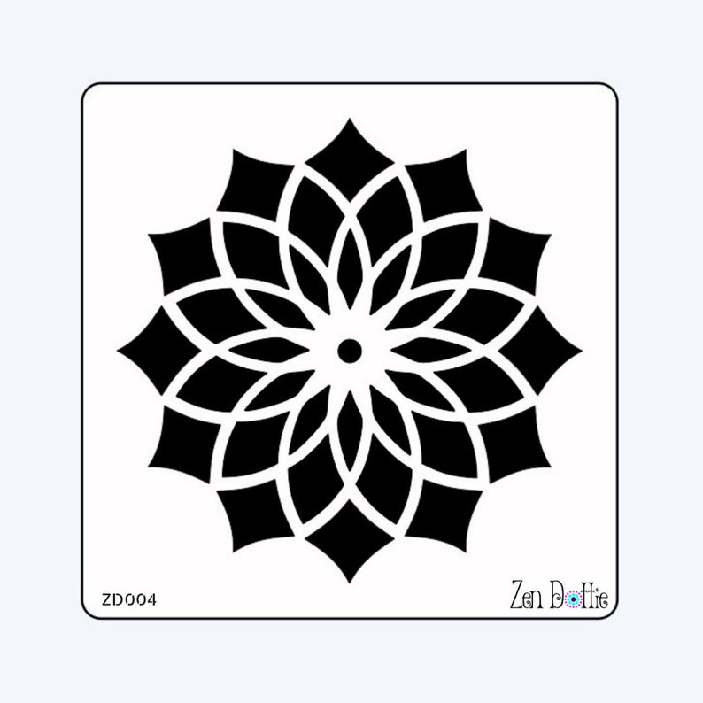 Dotting Dotting templates Dotting stencils set of 5 Dotting guides Dot Mandala stencils Mandala stencils