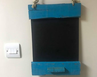 Blue Upcycled Pallet Chalkboard