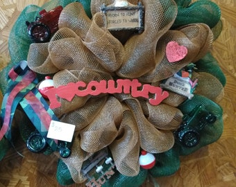 I love the Country Life Mesh Wreath