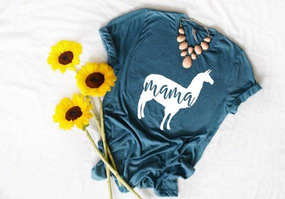 c3bb80cfb763 Mama Llama T Shirt Funny Mom Shirt Cute Mama Tee Shirt