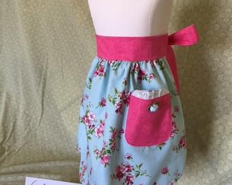Child's Reversible Apron - The Little Hostess - Handmade w/love - One-of-a-Kind Keepsake