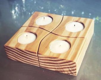 Handmade Tealight Holder Set (with lights)