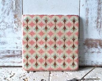 "Coaster, tile ""Retro"" home decoration"