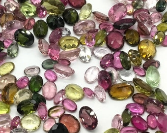 Multiple Semi Precious Gemstones 8 Faceted Tumble Natural gemstone Necklace Handmade 347.75 Ct
