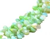Blue Opal - 8 39 39 Peru Smooth Drops 1 Strand Gemstone EB0246 Jewelry Beads HandmadeNatural Natural