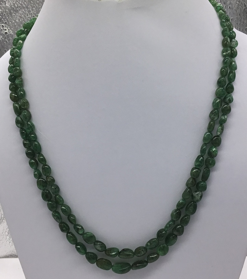 Emerald Tumbled Brazilian Necklace 100 /% Natural Emerald Tumble Emerald Beads Emerald Jewelry Green Emerald Tumble Top Quality Emerald Gems