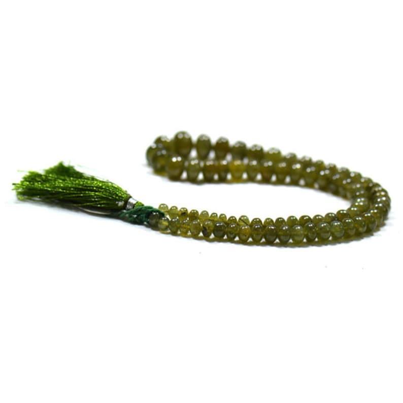 16/'/' Smooth Thai Beads Gemstone 1 Strand EB0015 Jewelry Beads   Handmade  Natural Green Sapphire