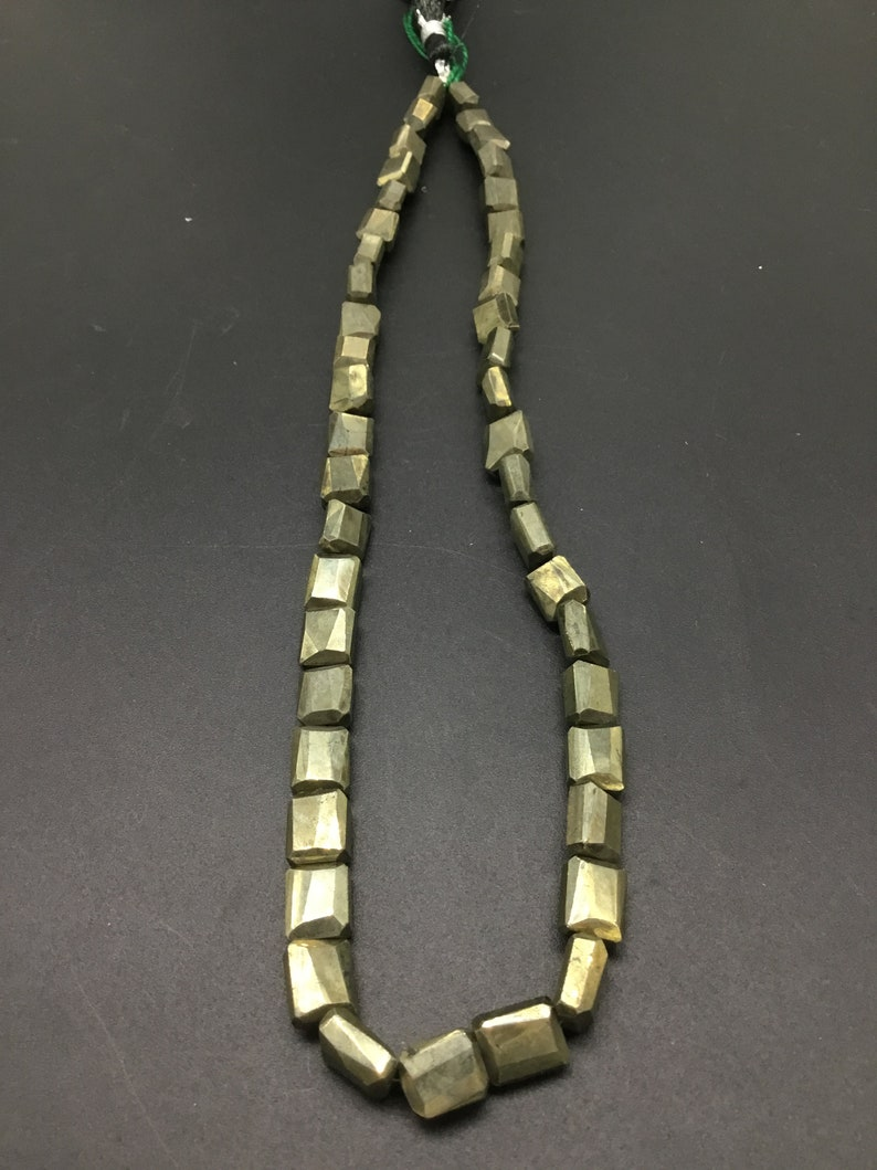 Golden Pyrite Faceted Tumble 16/'/' Gemstone Necklace 1 Strand pyrite