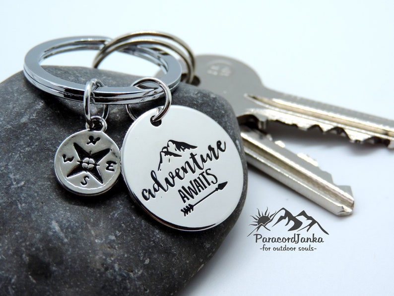 Adventure Keychain For Adventurous Souls Hiking Gift