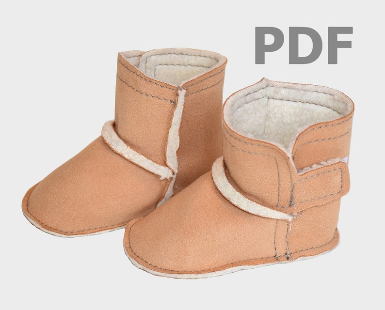e5bd7a9187d Ugg Boot Style Sewing Pattern, baby boy shoe toddler slipper