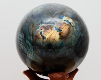 LABRADORITE - Sphère de 7170 g -  diamètre 170 mm