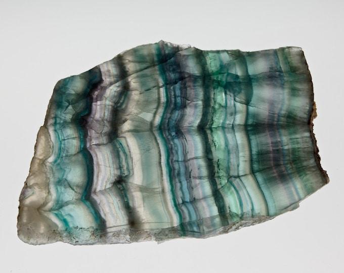 FLUORITE A BANDES - Magnifique plaque - Unique - 659 g