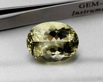 Yellow/ORTHOSE-faceted stone oval size-20.75 CTS-20X15X12 mm-jewellery Assembly