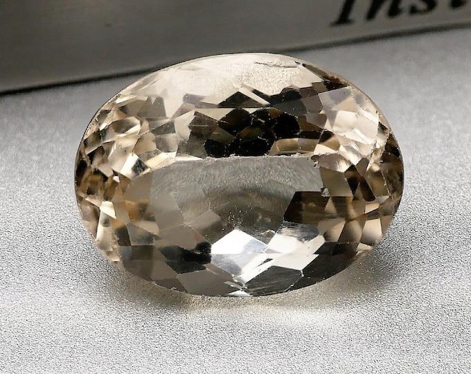JAUNE / HELIODORE - Pierre facettée taille ovale - 5.85 cts -13X10X8 mm - Montage bijoux