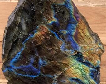 LABRADORITE - Plaque semi-polie de 376 g