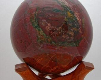 Rouge / JASPE ROUGE - Magnifique Sphère - 6,52kg