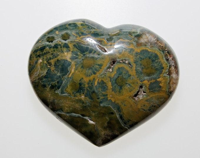 JASPE ORBICULAIRE - Très joli coeur - 358 g