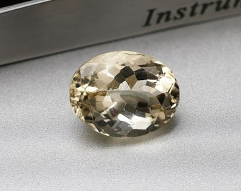 JAUNE / HELIODORE - Pierre facettée taille ovale - 3.65 cts -20X16X9 mm - Montage bijoux