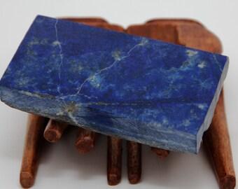 Bleu / LAPIS LAZULI AFGHANISTAN - Spécimen unique plaque semi brute - 230 g - Magnifique objet de collection ou à tailler
