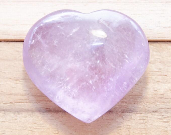 Violet/Mauve --AMETHYSTE - Très joli cœur - 39 g