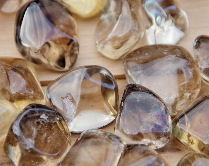 Jaune --CITRINE FUMEE - Pierres roulées - 2 à 5 g selon taille - vendues à l'unité ou par lots de 2 à 7 pierres