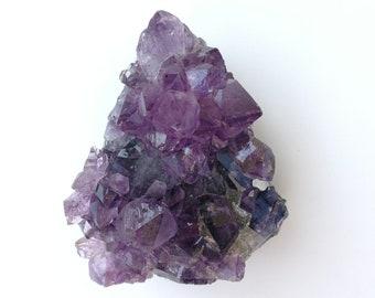 Violet/Mauve -AMETHYSTE URUGUAY - Très belle druse (Morceau de Géode brut) - Poids : 366,7 g - 46 pièces disponible au choix (me contacter)