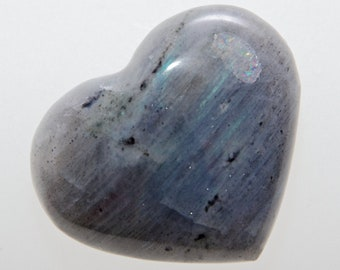 Bleu indigo / LABRADORITE - Très joli cœur  22,6g