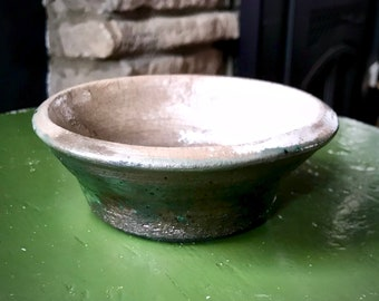 Green and White Dish