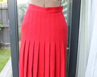 Sonia Rykiel Red pleated full-length skirt