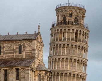 The leaning tower of Pisa