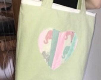Elephant loveheart tote bag