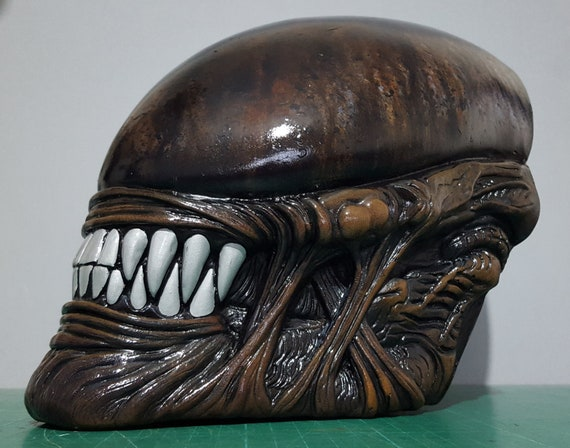Alien Covenant Prometheus Aliens Professional Painted Resin Model Lifesize Prop Replica Toy Mask Face Wallmount H R Giger Aliens Xenomorph